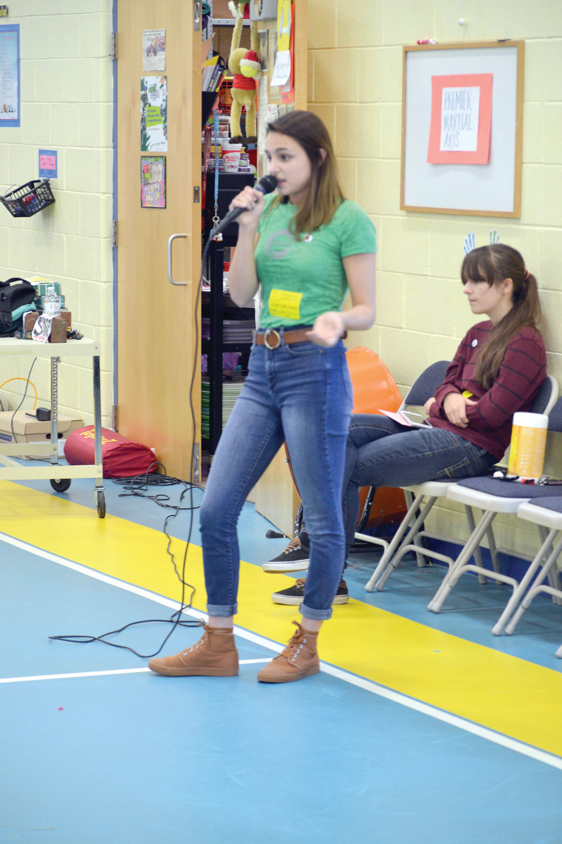 ANOTHER PERSPECTIVE: Jenna Andreozzi shared her stories of anxiety and depression with the entire school.