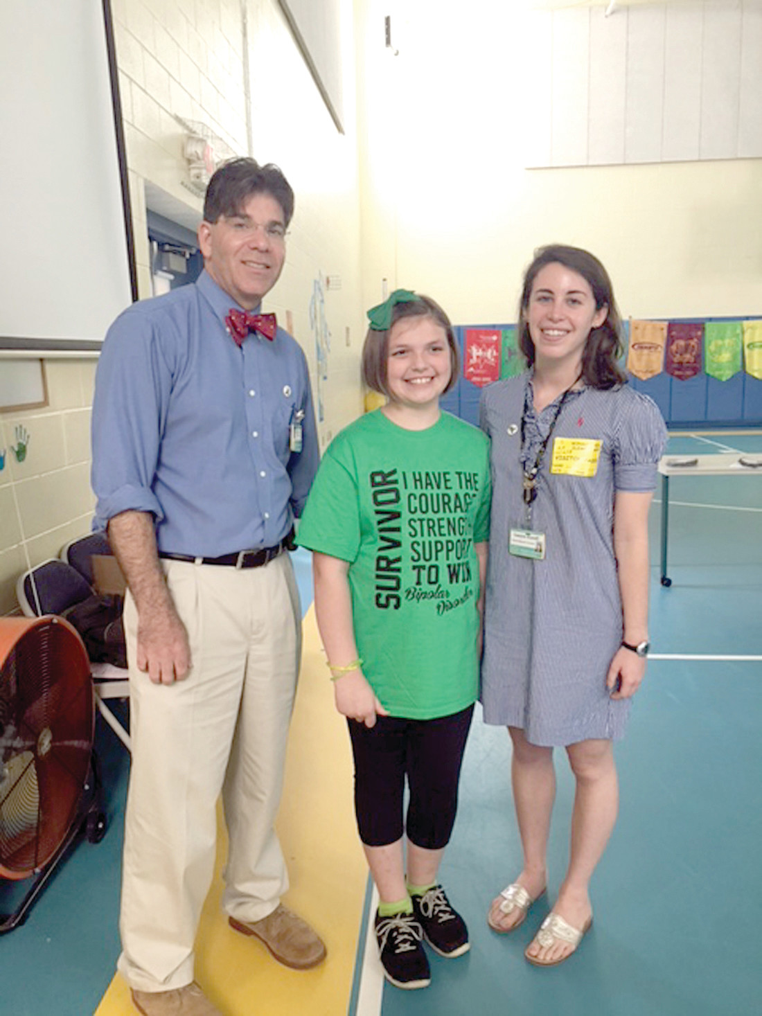 DOCTOR ON CALL: Dr. Daniel Dickstein and his assistant Lauren joined with Gabby to explain mental illness to Winsor Hill students.