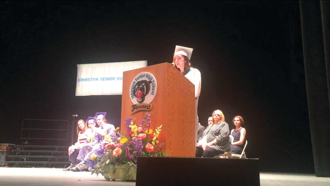 Valedictorian Laura Wilson spoke about taking life lessons learned at JHS into the future.