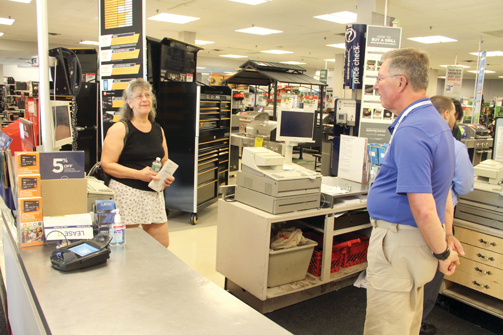 ALWAYS GETS ANSWERS: Paula Burns of Johnston lamented that with the closing of Sears she knows of no other store where associates are so helpful in answering questions and providing service.