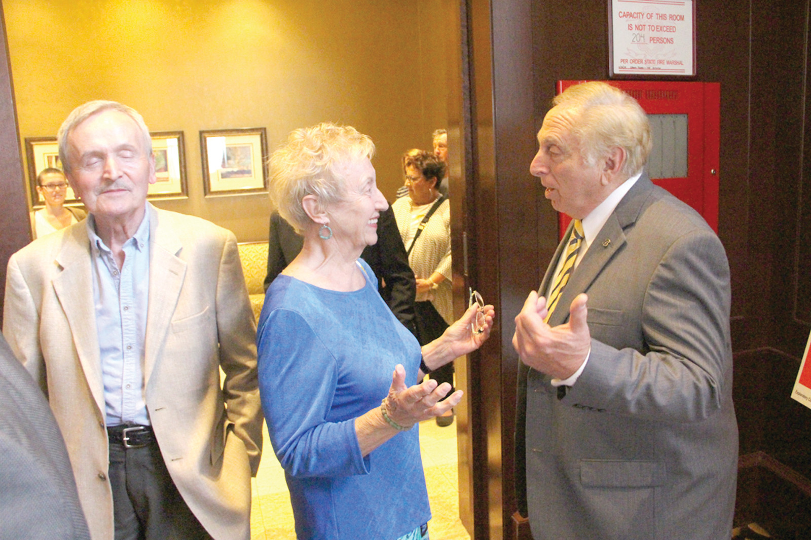 "HER GUY: Barbara Wierzbicki liked what Joseph Trillo had to say Tuesday as he ""explored"" a bid for governor in 2018."