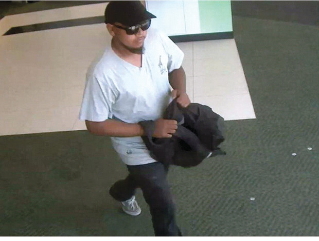 SUSPECT: Police have released this photo of the suspect in the TD Bank robbery.