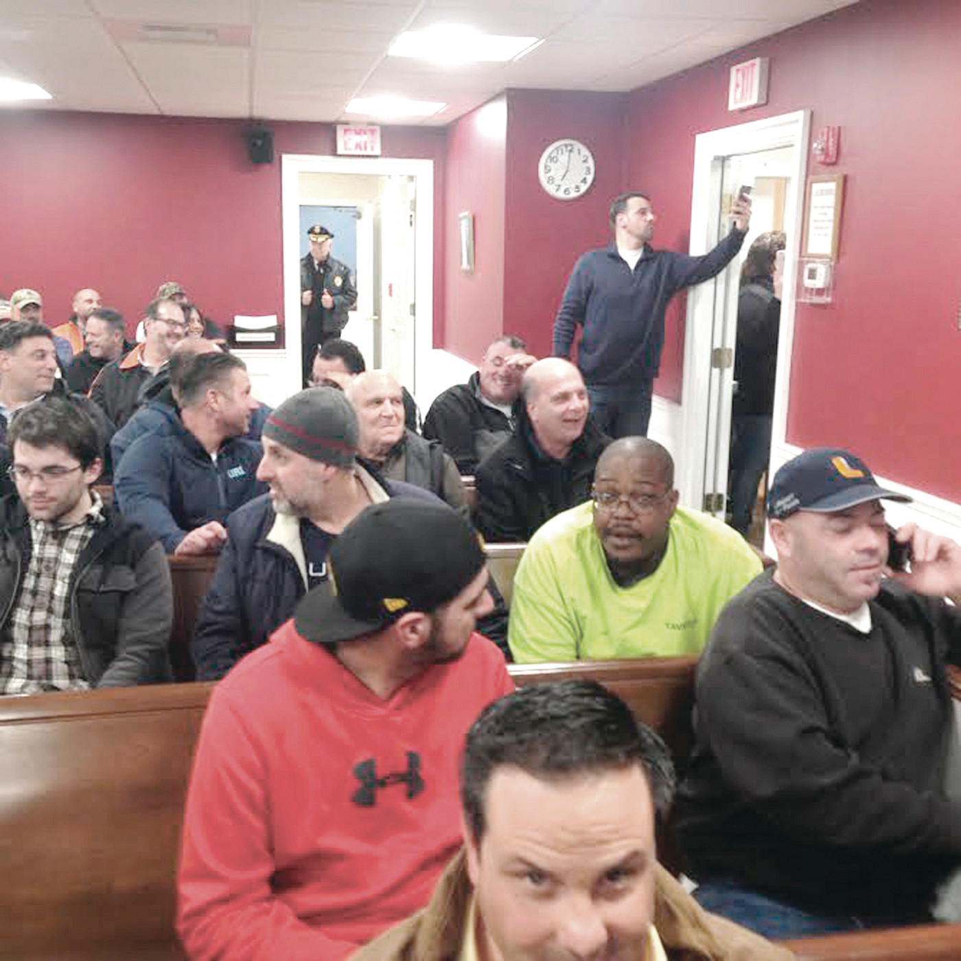 FULL HOUSE: This was the scene during the Jan. 10 special meeting where the Town Council approved a plan to sell water to supply Invenergy's proposed power plant in Burrillville.