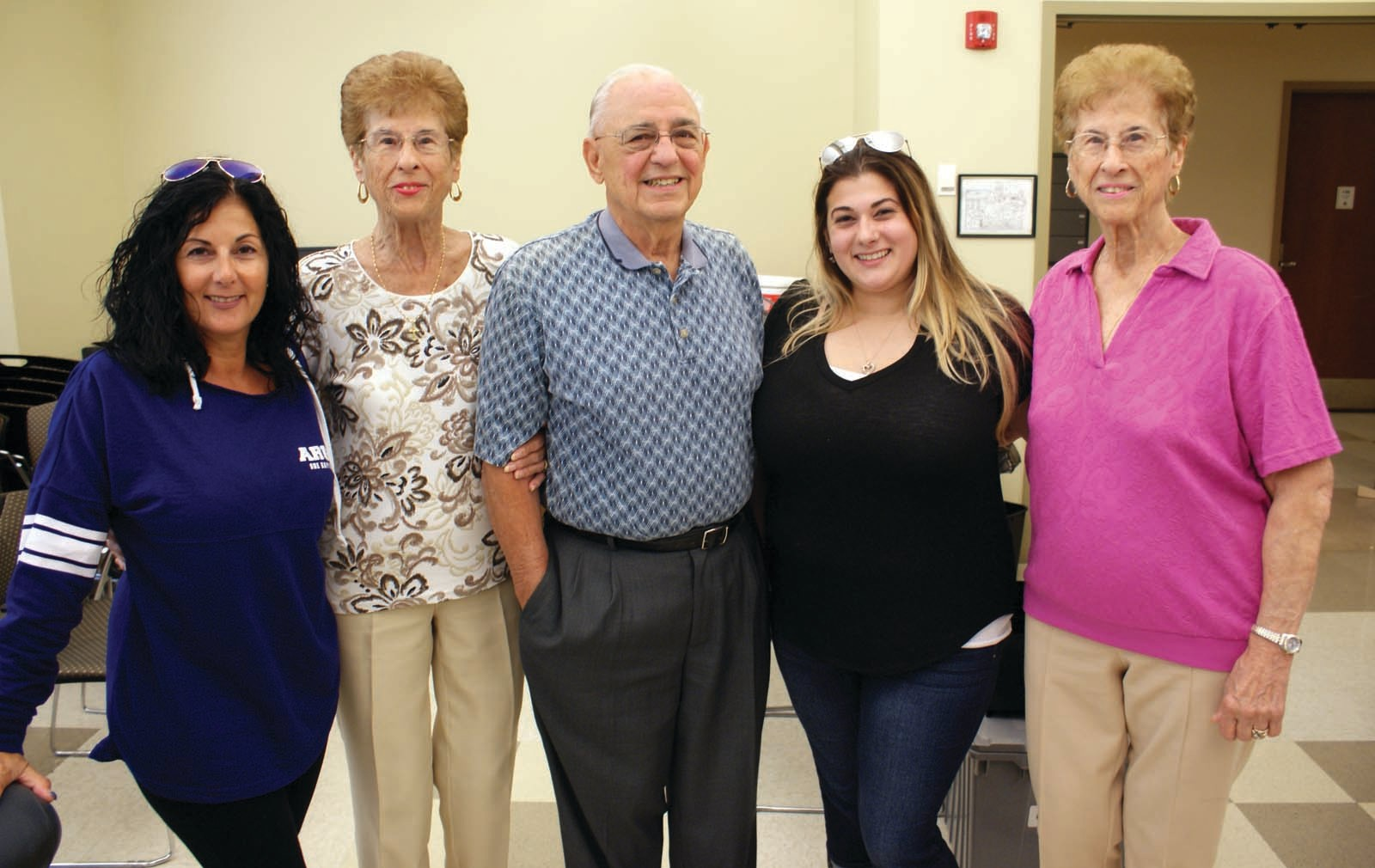 FAMILY MATTERS: For the past six years, the Cranston Police Department has hosted the Miranda Petrella Blood Drive with the RI Blood Center. Pictured at this year's drive are some of Miranda's relatives, Tracy Petrella, Marie Stabile, Edmund Stabile, Miranda Petrella and Santina Leonard.