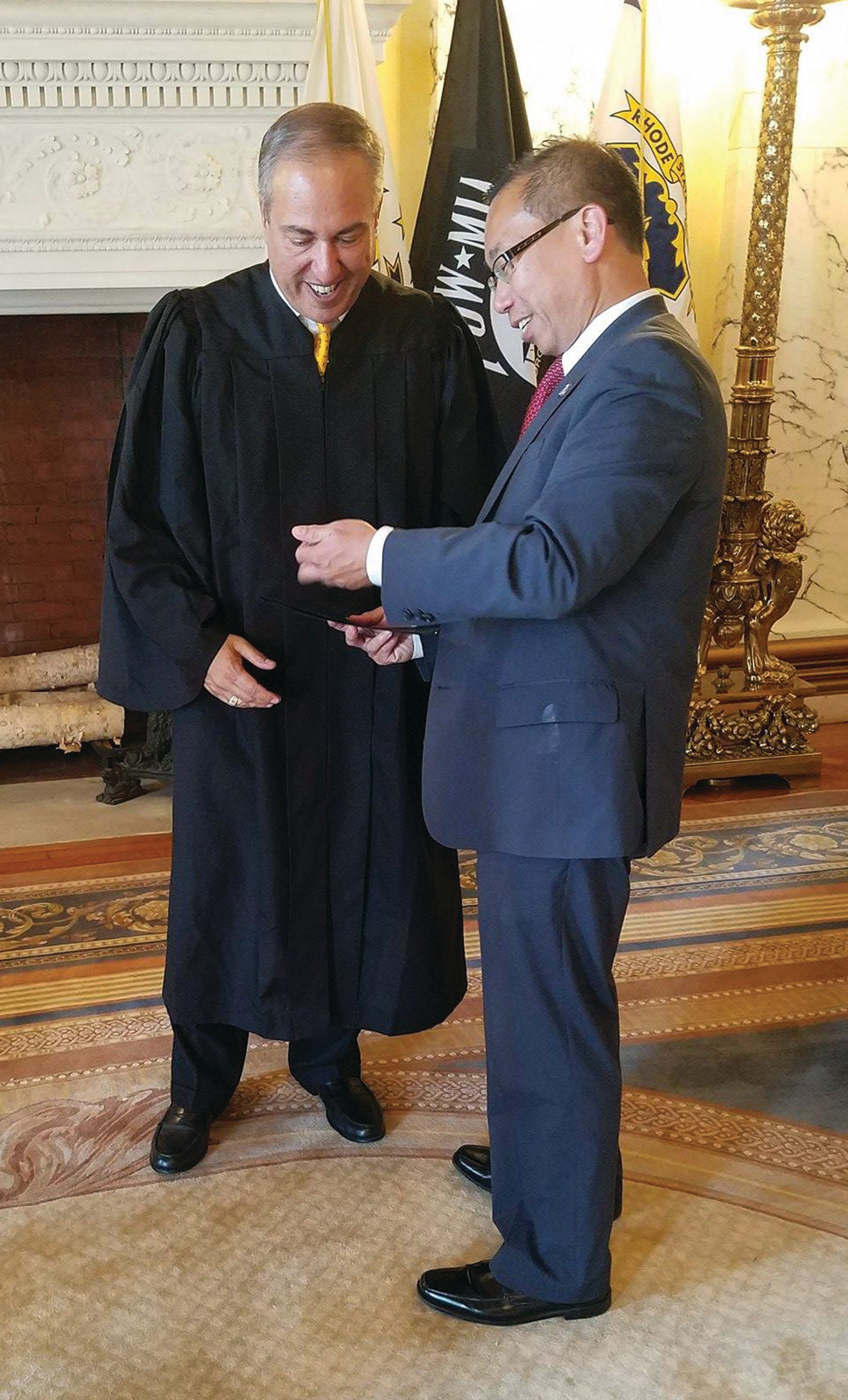 Steven Minicucci was sworn in this past week as Workers' Compensation Court Judge.
