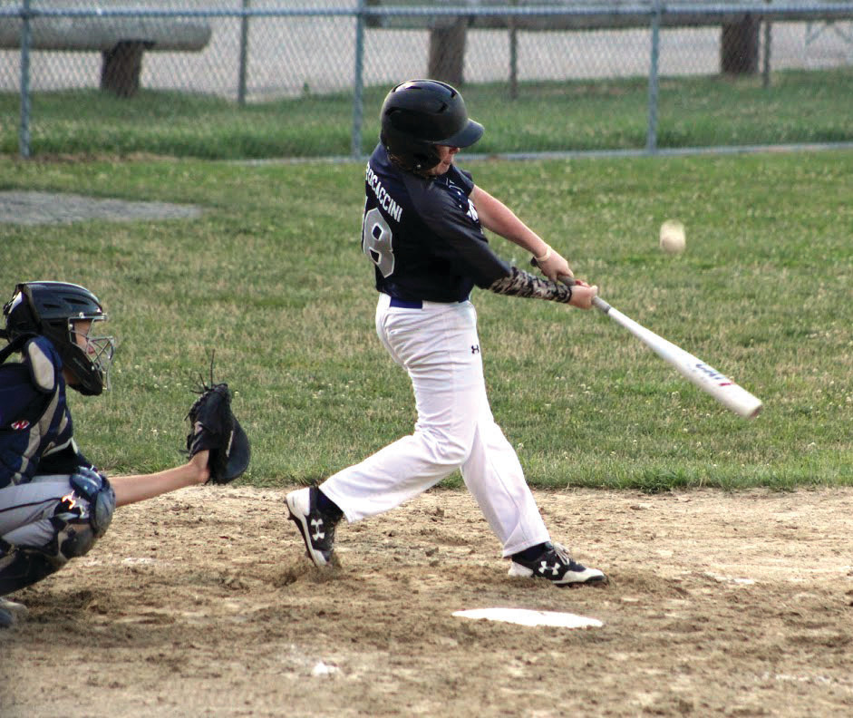 MAKING CONTACT: John Procaccini takes a rip at a pitch in the strike zone.