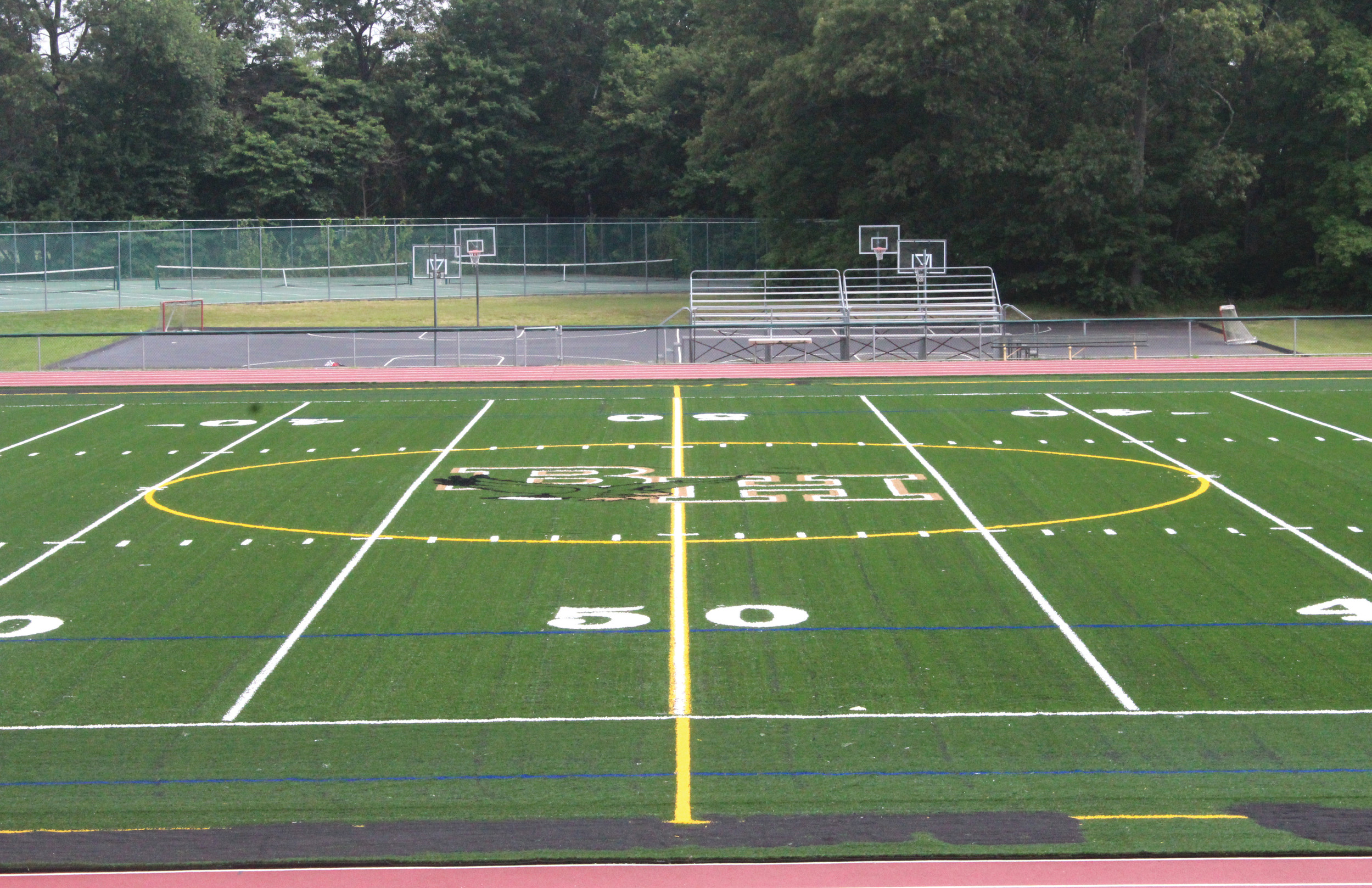 NEW TURF: Hendricken's new turf field was installed in recent weeks. A brand new scoreboard will also be installed within the next month.