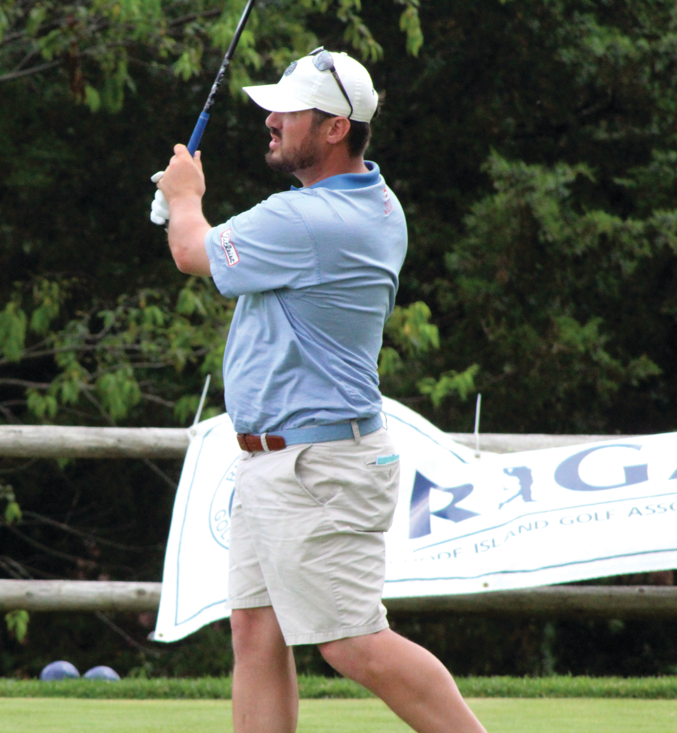 Four-time amateur champion Brad Valois finished in a tie for fifth after two stroke play rounds. (Warwick Beacon photos by Matt Metcalf)