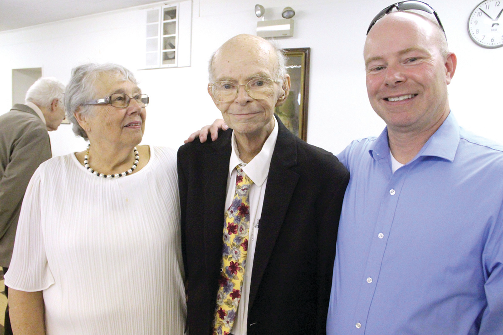 FINAL SERMON: The Rev. Warren Marble, pastor of the First Congregational Church of Warwick, made his retirement official Sunday. Pastor Marble has been a member of the church since 1954 and served as its pastor since 2000. He is joined here by his wife, Carol, and son, Scott.