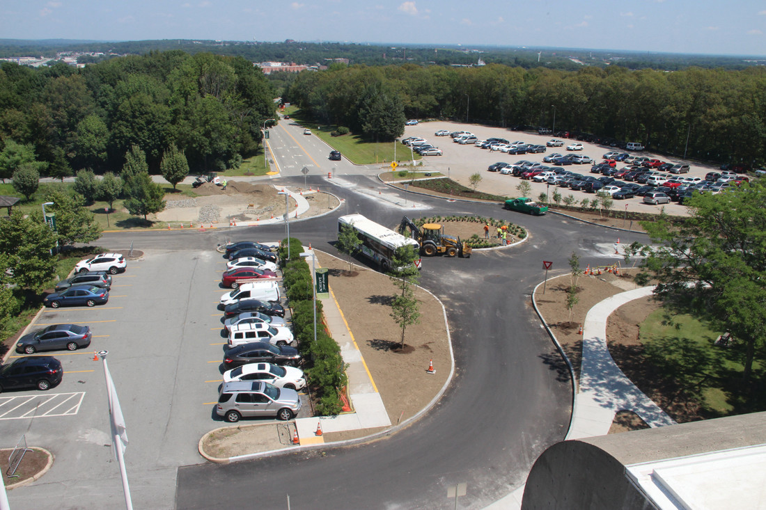 WHAT'S AROUND AT CCRI: A roundabout has been built in front of the Knight Campus of CCRI aimed at improving safety, reducing speed and improving traffic flow.