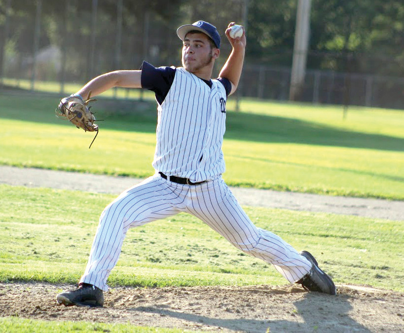 QUALITY START: Will Martino tossed five shutout innings for PAL in Game 1 against Tiverton.