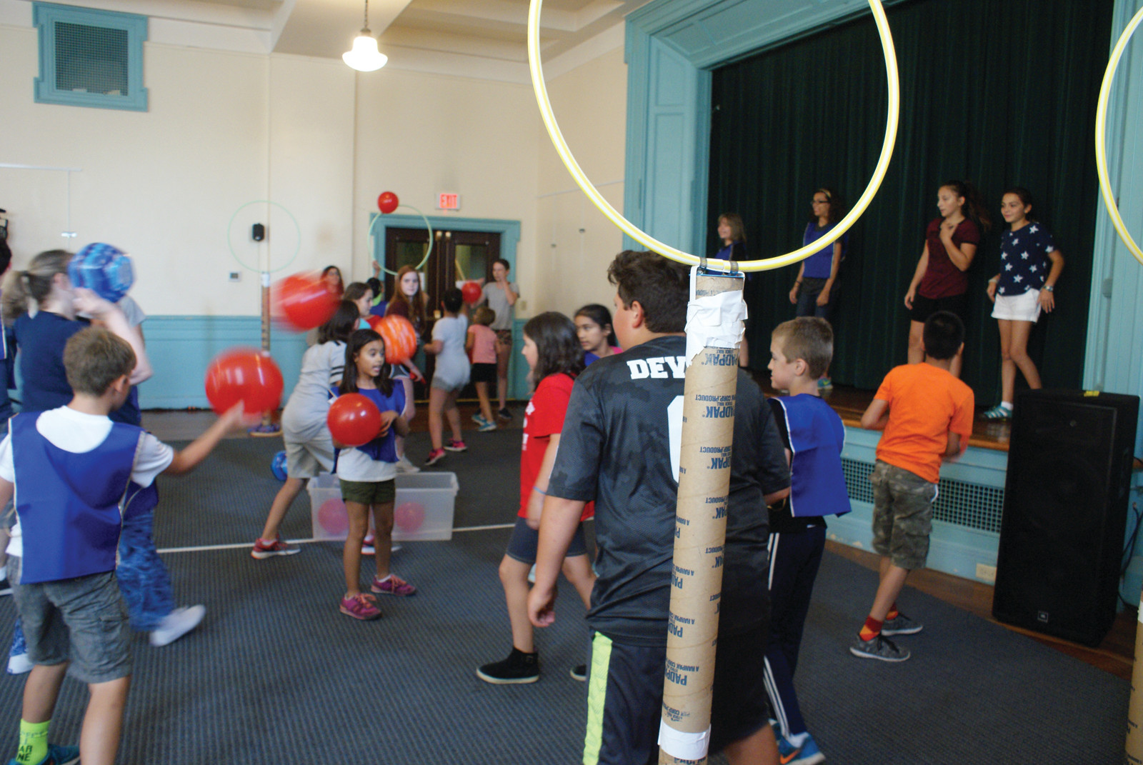 PLAYING QUIDDITCH: Pictured are Cranston youth enjoying a match of Quidditch of Harry Potter fame at the William Hall Library.