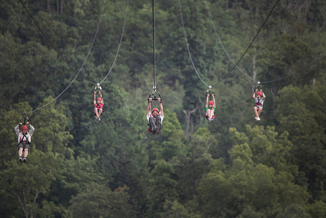 ZIP LINE FUN: Four troops comprised of 142 R.I. Scouts recently attended the 2017 National Boy Scout Jamboree.