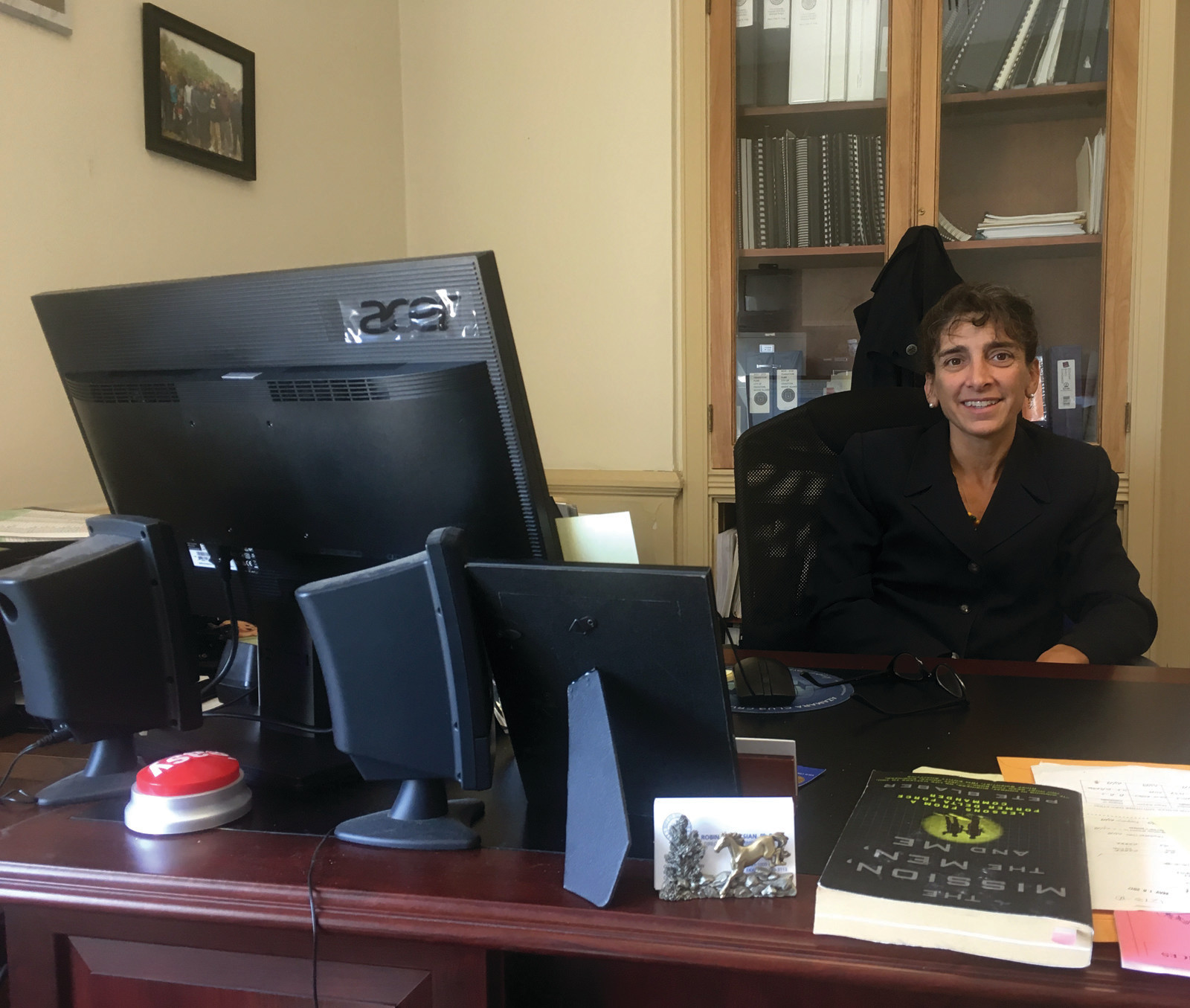 BACK HOME: Cranston Director of Administration Robin Muksian began her third stint in Cranston, where she grew up, this summer.