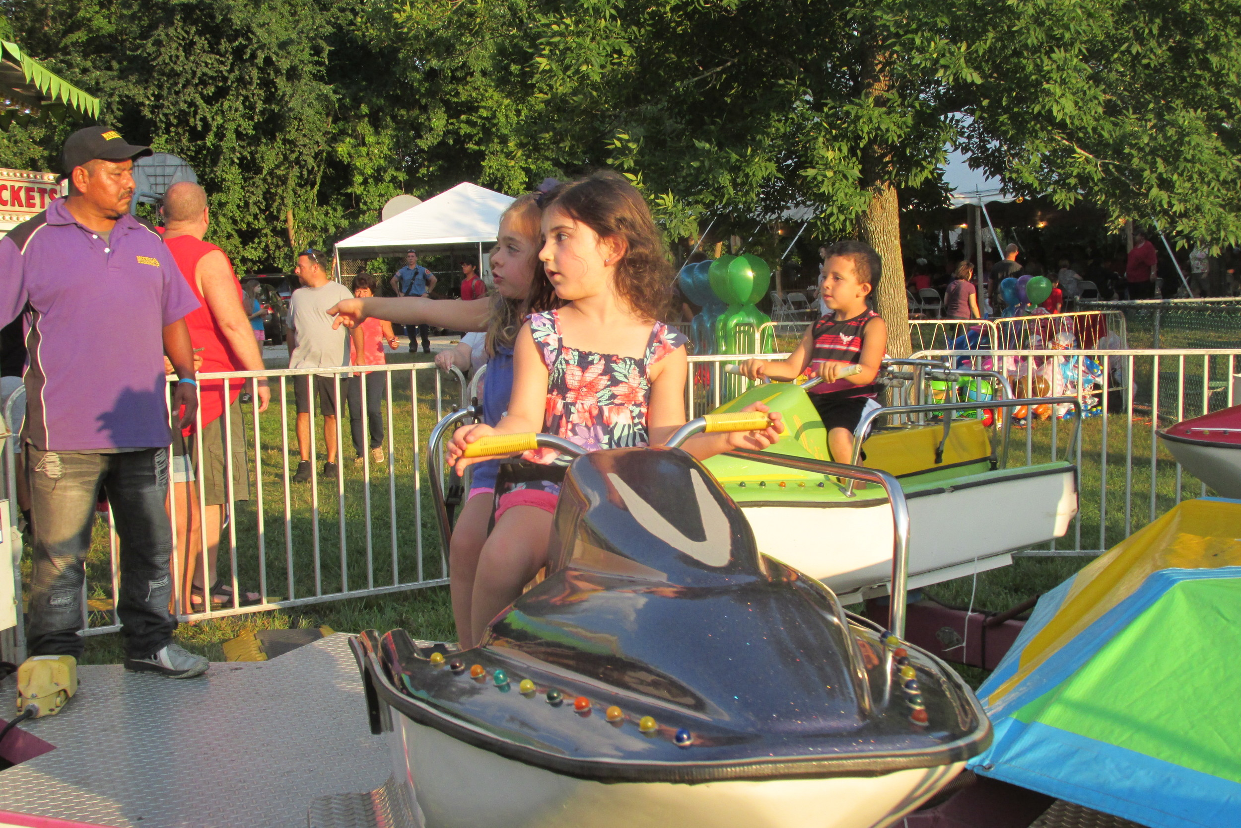 'SEASIDE': Young children of all ages enjoyed the waterless boat rides during last weekend's Saint Rocco's Feast and Festival.