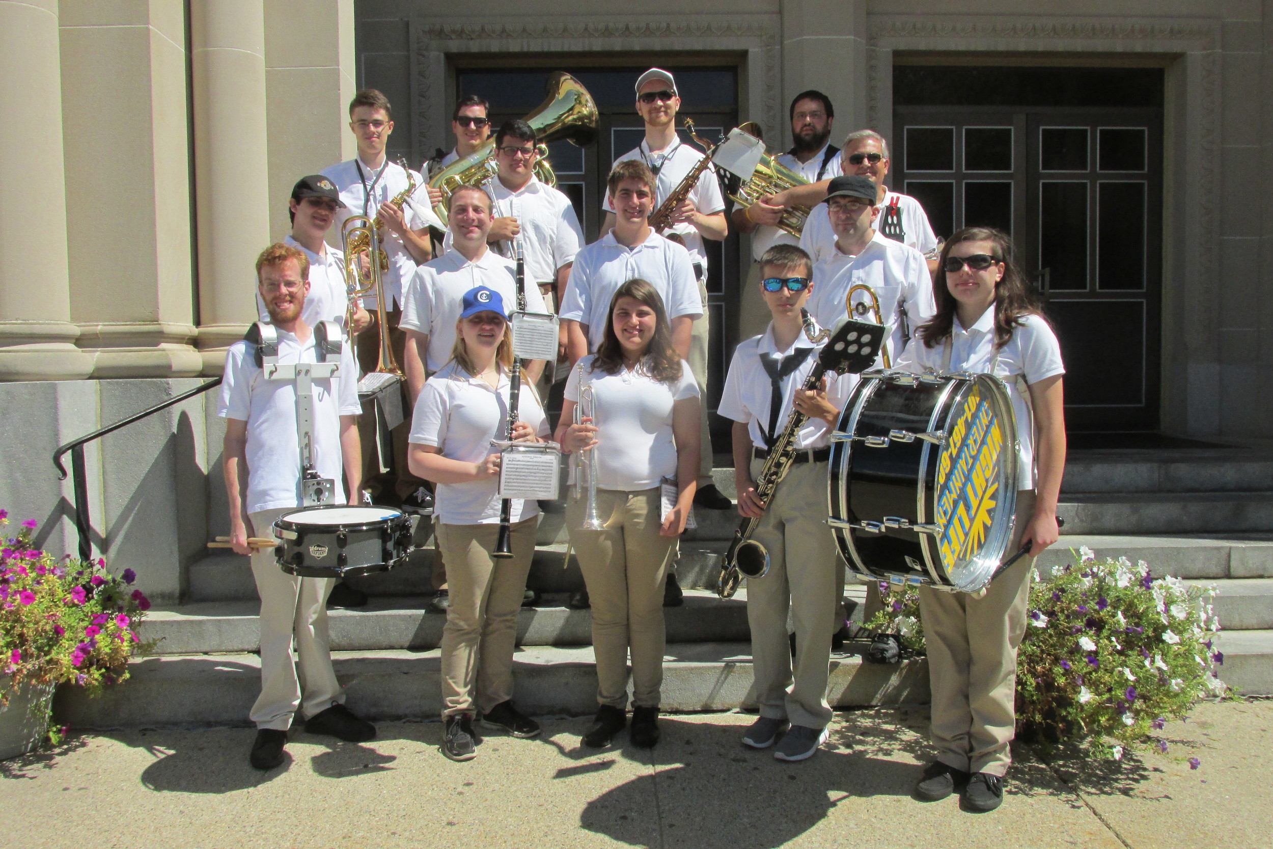 MIGHTY MUSICIANS: The Rhode Island Veterans Band helped make Sunday's procession and festival a huge hit with people by way of some excellent music.