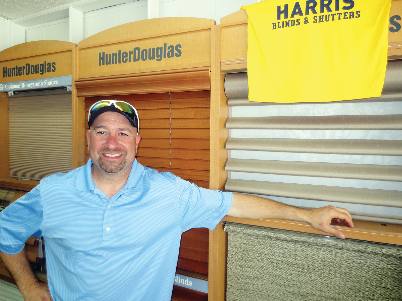 Harris Alkins, the longtime owner of Harris Blinds & Shutters, has been helping home and business owners for over three decades.  His customers reach far and wide, and he gives everyone 100% of his effort and time every time– give him a call today to set up your free consultation.