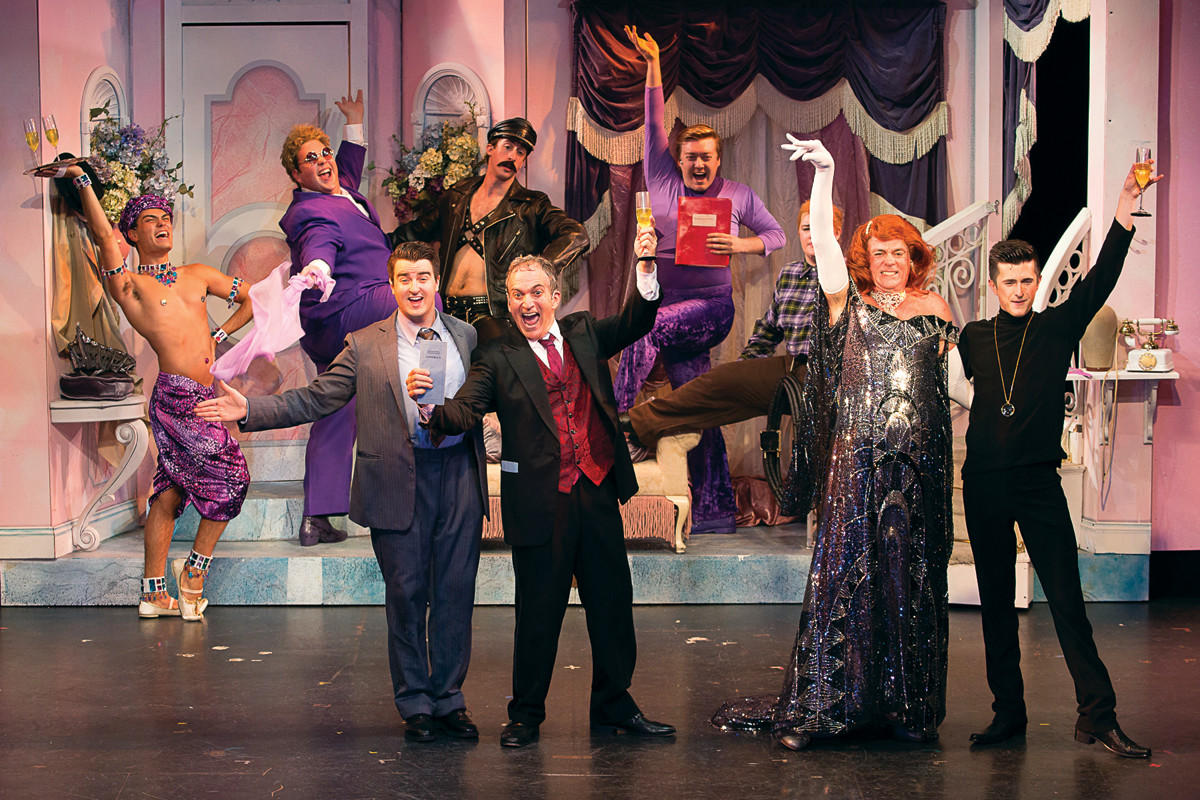"The company of ""The Producers."""