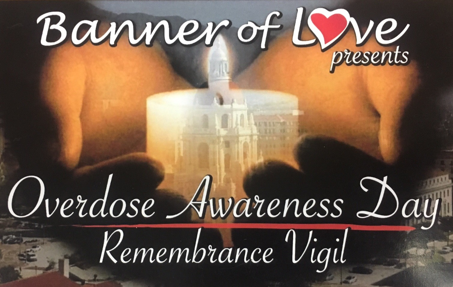 The vigil and ceremony will be held outside the State House on Aug. 31 from 6 to 9 p.m.