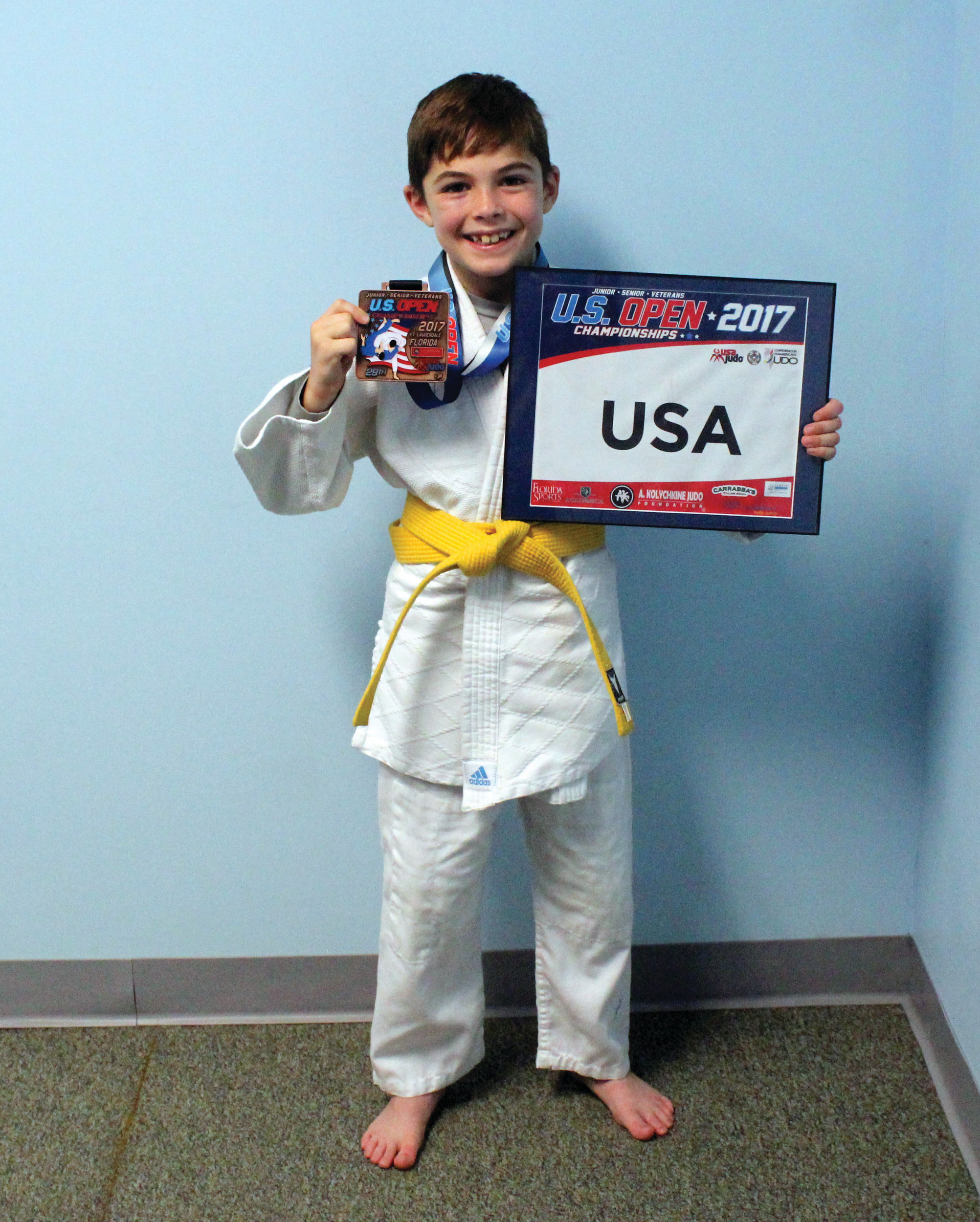 STRONG SHOWING: Michael Owens, Jr. recently earned bronze at the U.S. Open Judo Championships in Fort Lauderdale, Florida.