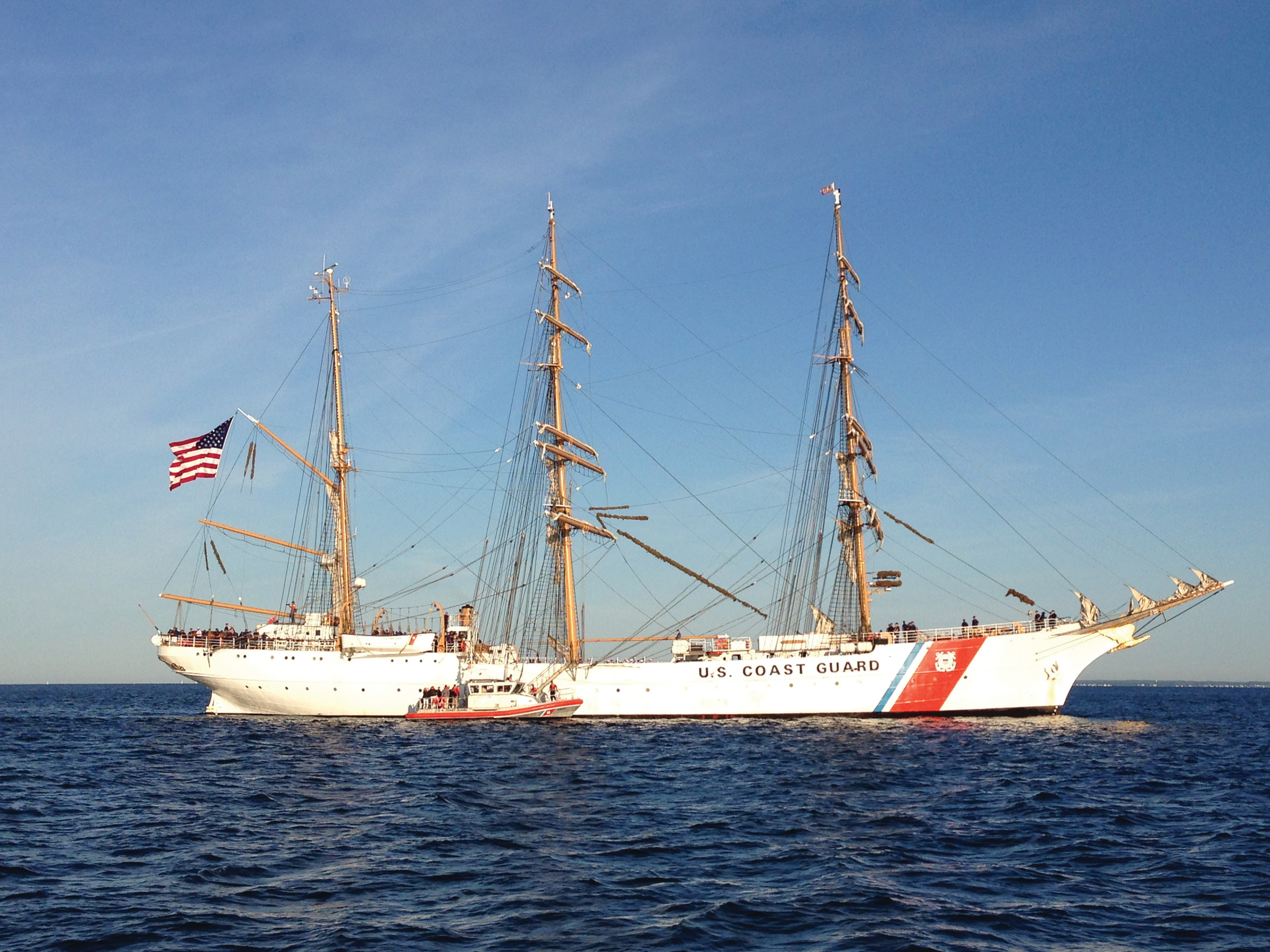 "The U.S. Coast Guard Cutter Eagle, known affectionately as ""America's Tall Ship."""