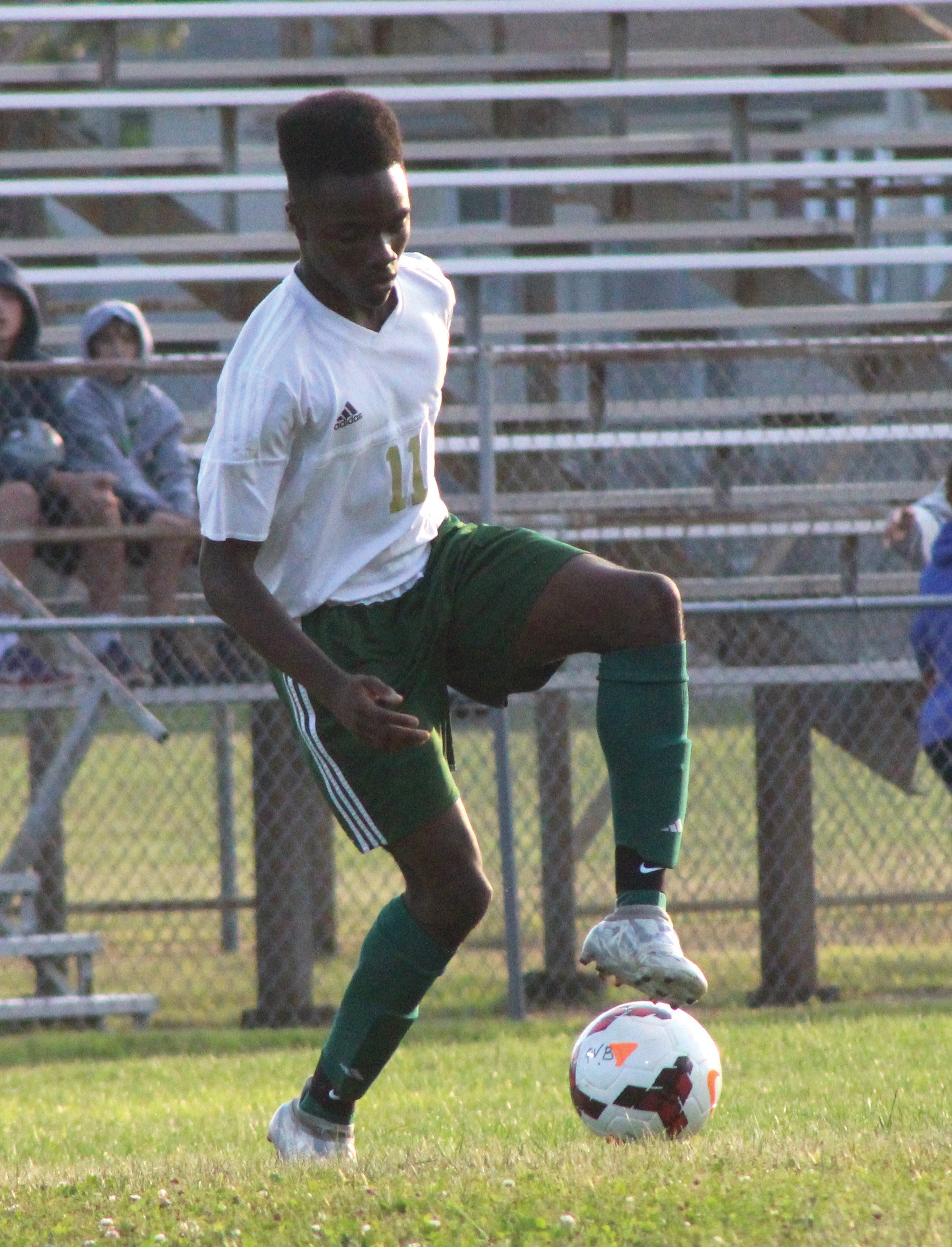IN CONTROL: Chukwuma Onyejose looks to make a play for the Hawks on Thursday.