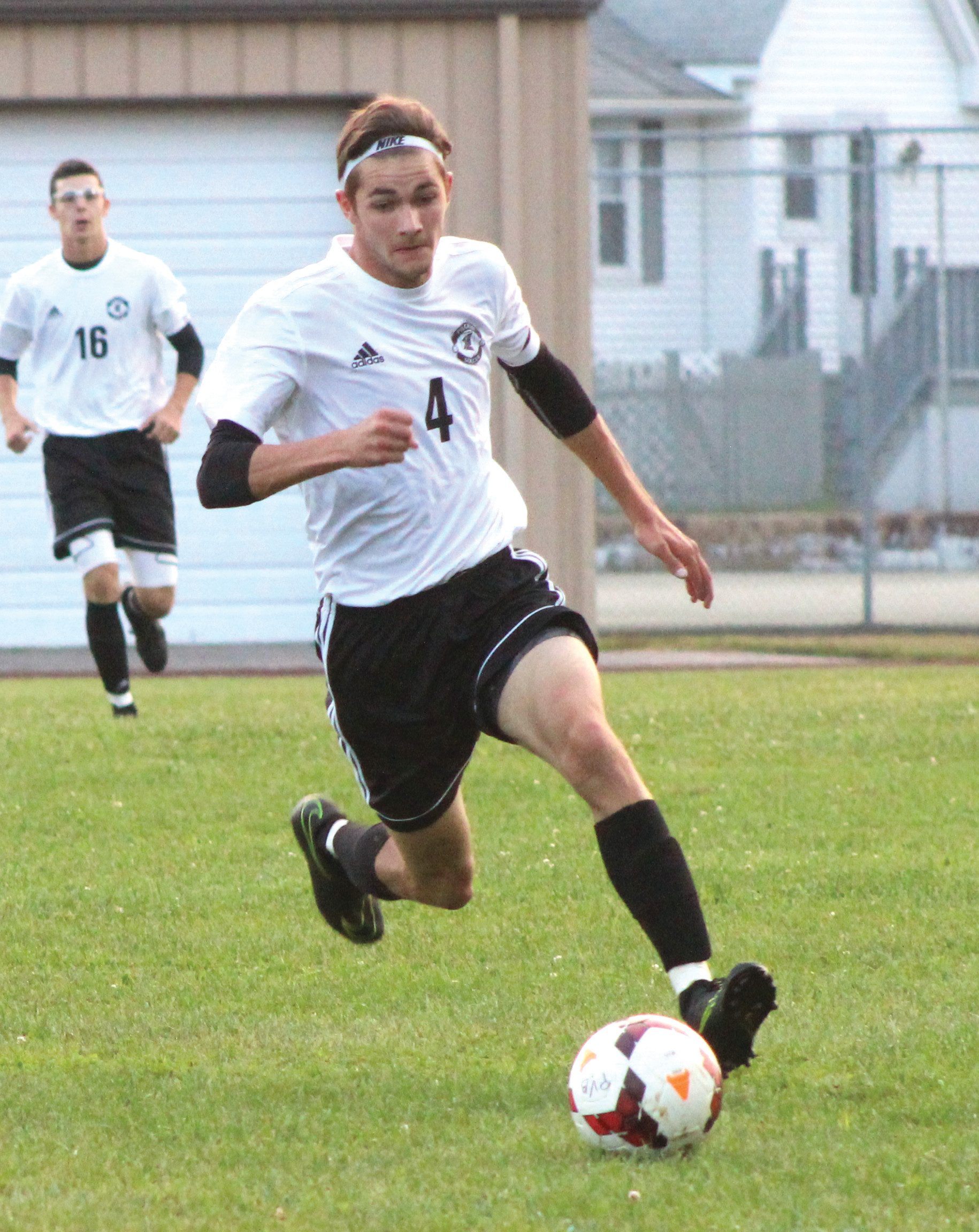 ADDING OFFENSE: Evan O'Connor scored a goal for Pilgrim on Thursday.