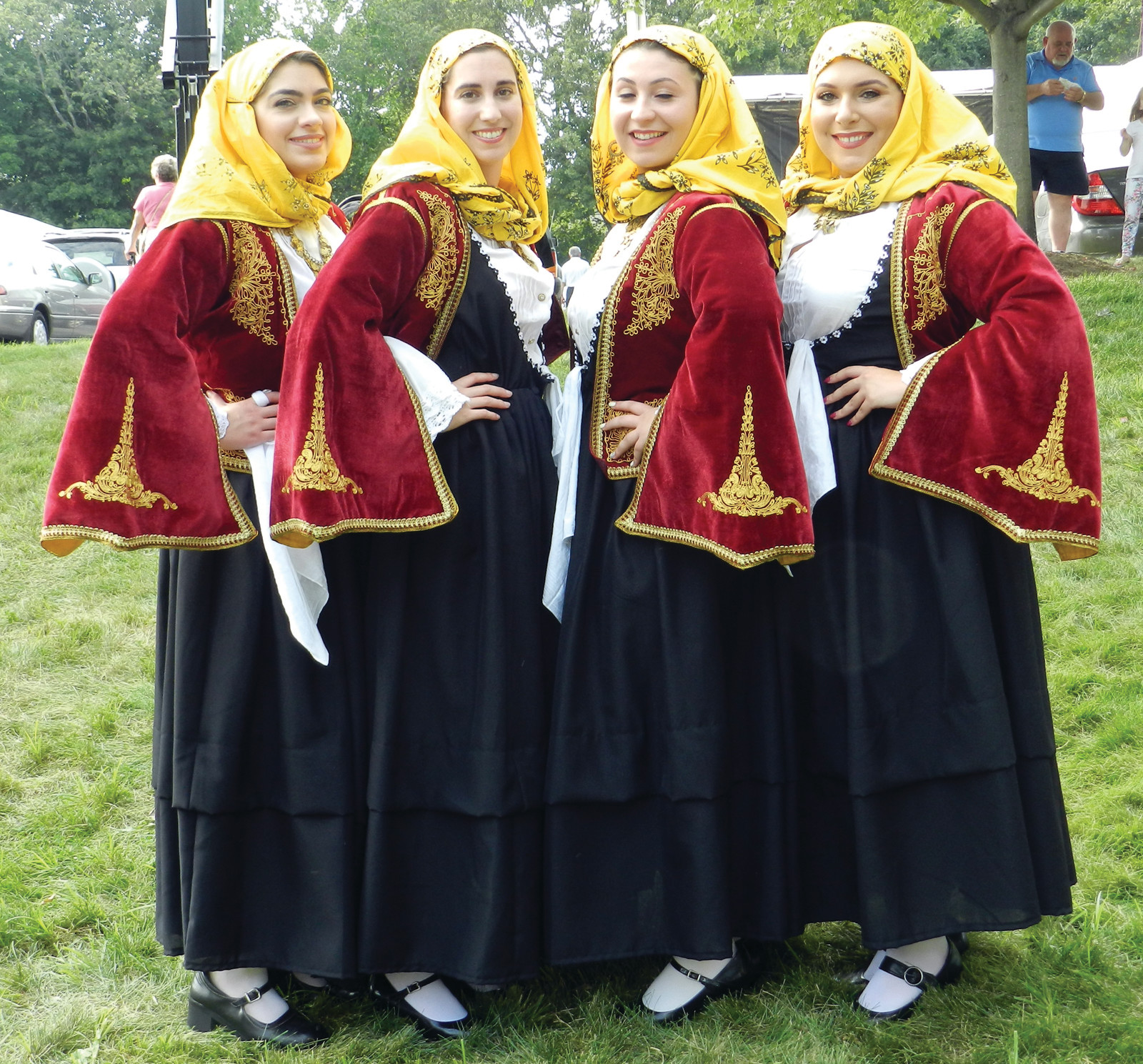 TALENTED TROUPERS: These are some of the older members of the famed Odyssey Dance Troupe who'll perform many unique Greek dances in handmade costumes this weekend at the Cranston Greek Festival.