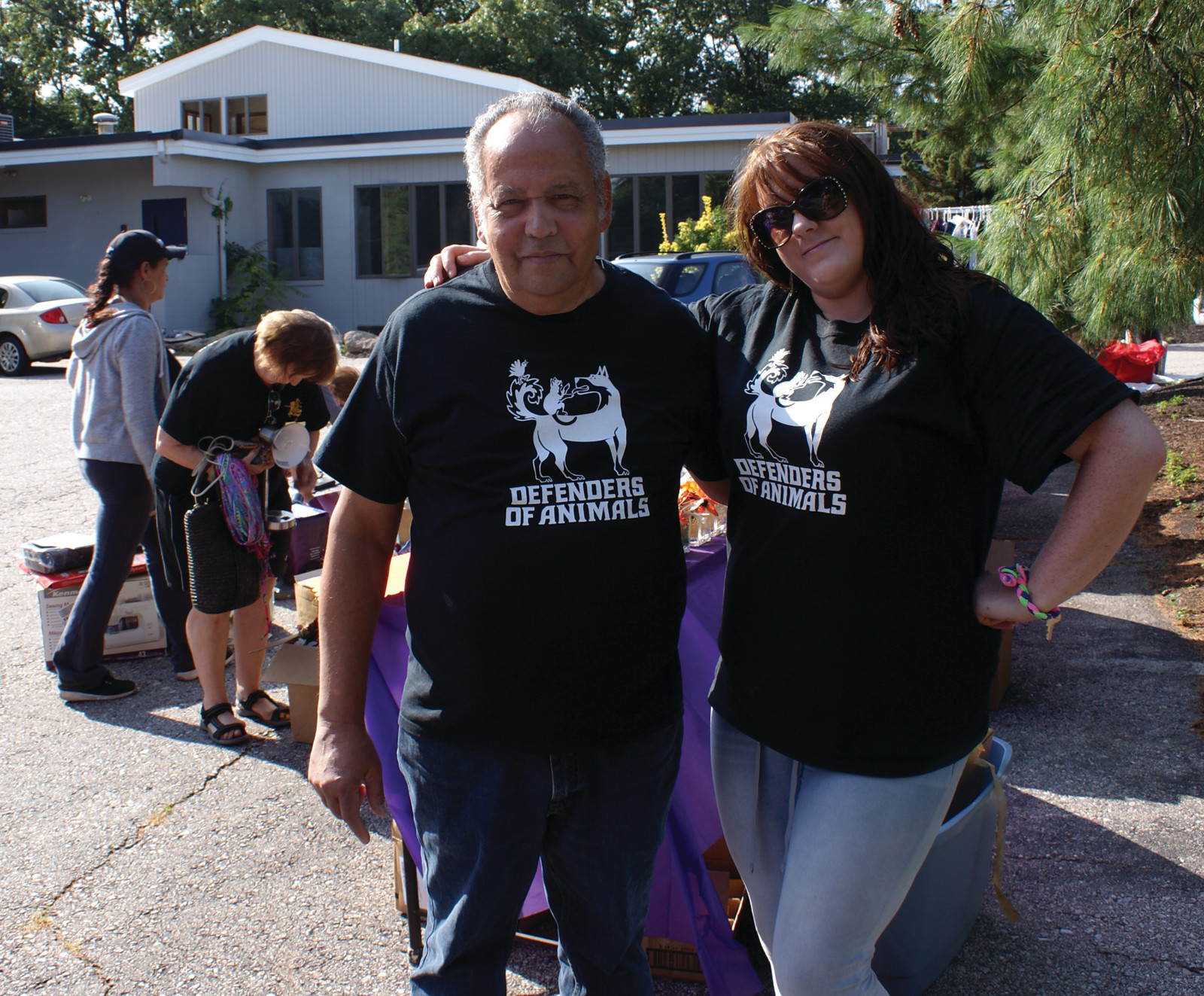 WORKING TOGETHER: Pictured is Dennis Tabella, Director of Defenders of Animals and Tonya Keegan, Kennel Manager at Warwick Animal Hospital who worked together for a successful fundraiser for Defenders of Animals.
