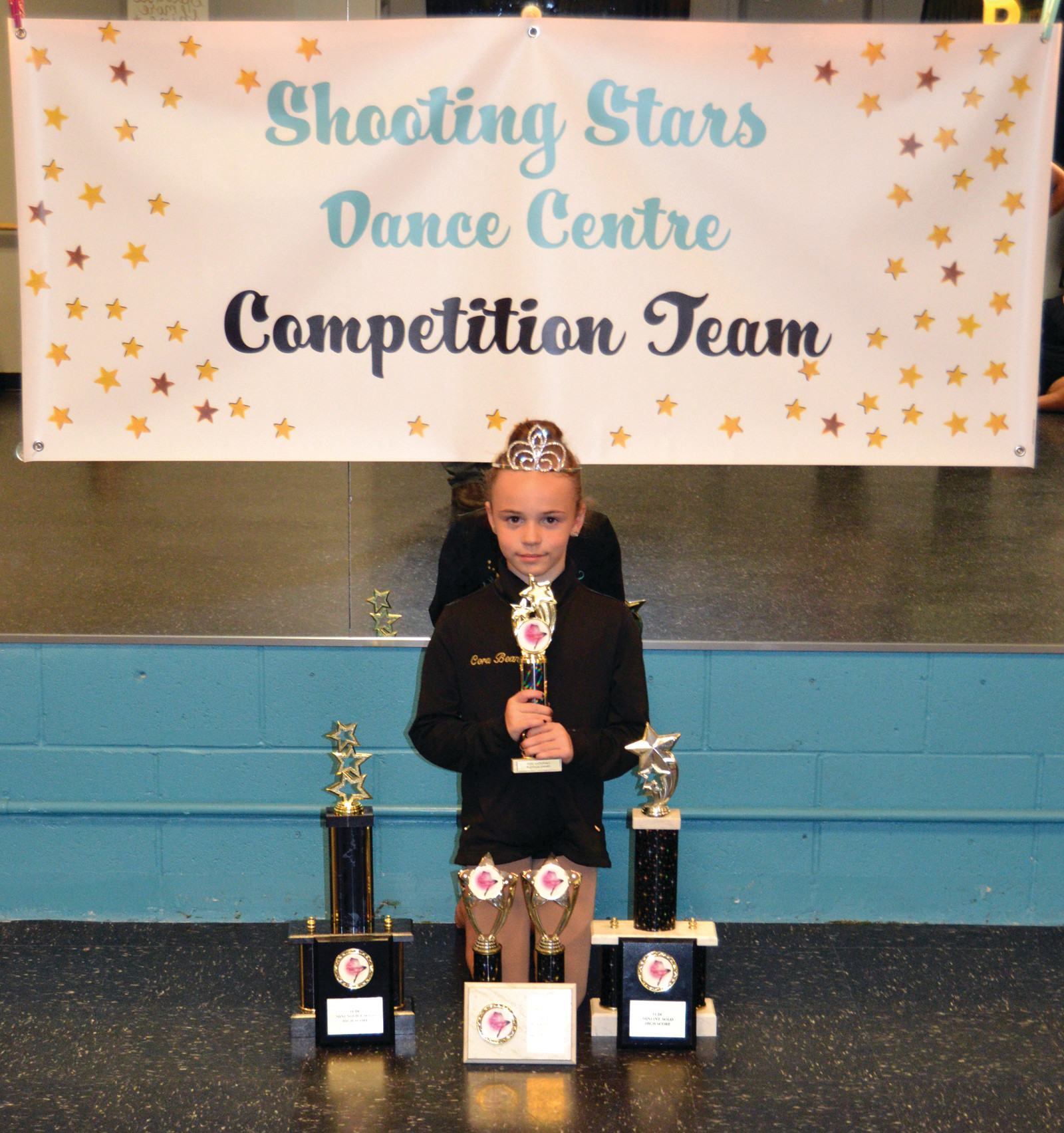 DANCE WITH ME TONIGHT: Cora Tully, age 8, received High Gold, National Team Invite, Division High Score and a Rising Star Judge Award for her Mini Jazz Solo.