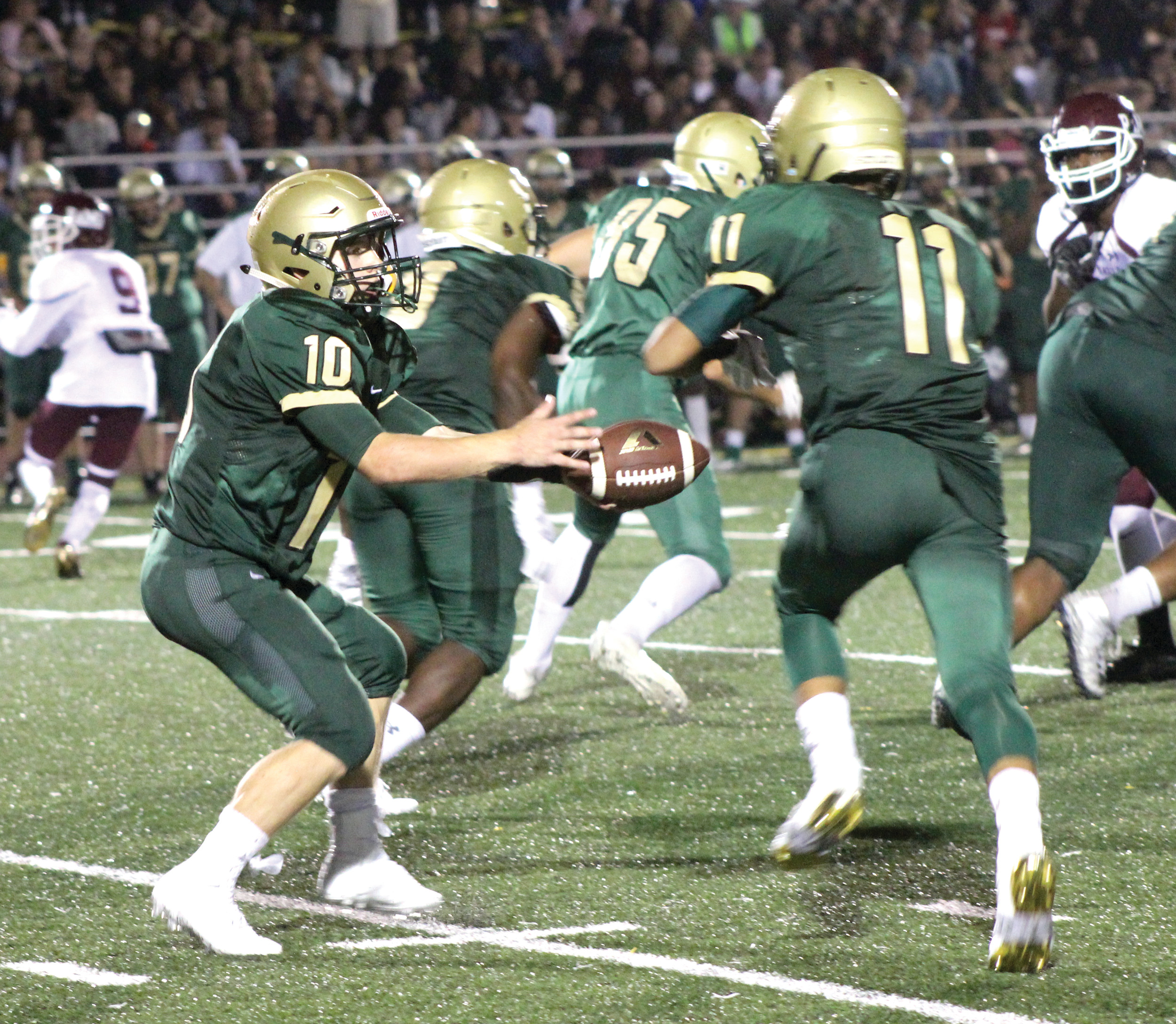 Tom Comella rushed for one touchdown and threw for another in Hendricken's win over La Salle.