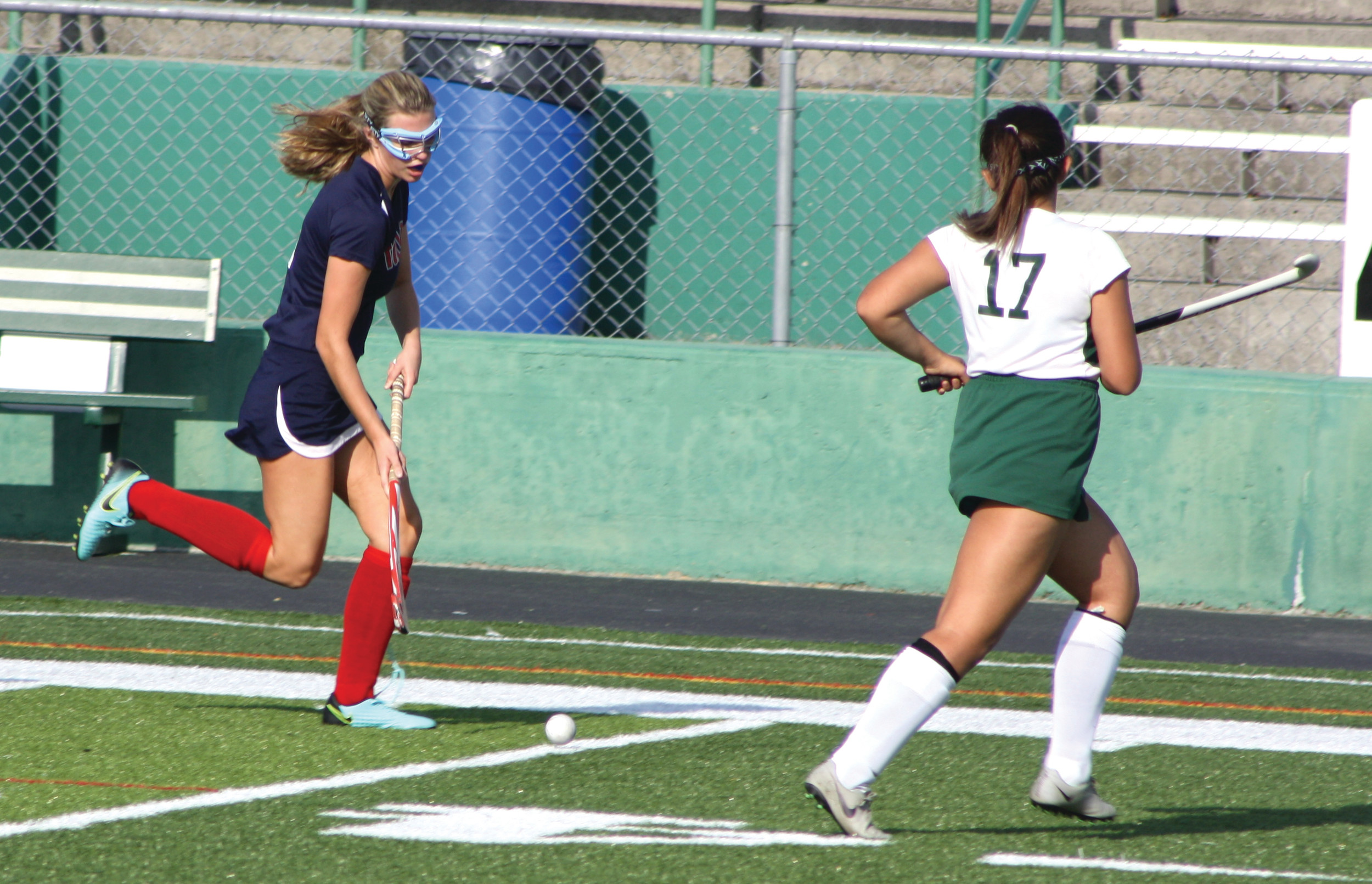 Grace Barta had one of Toll Gate's goals in a 5-1 win over Cranston East.