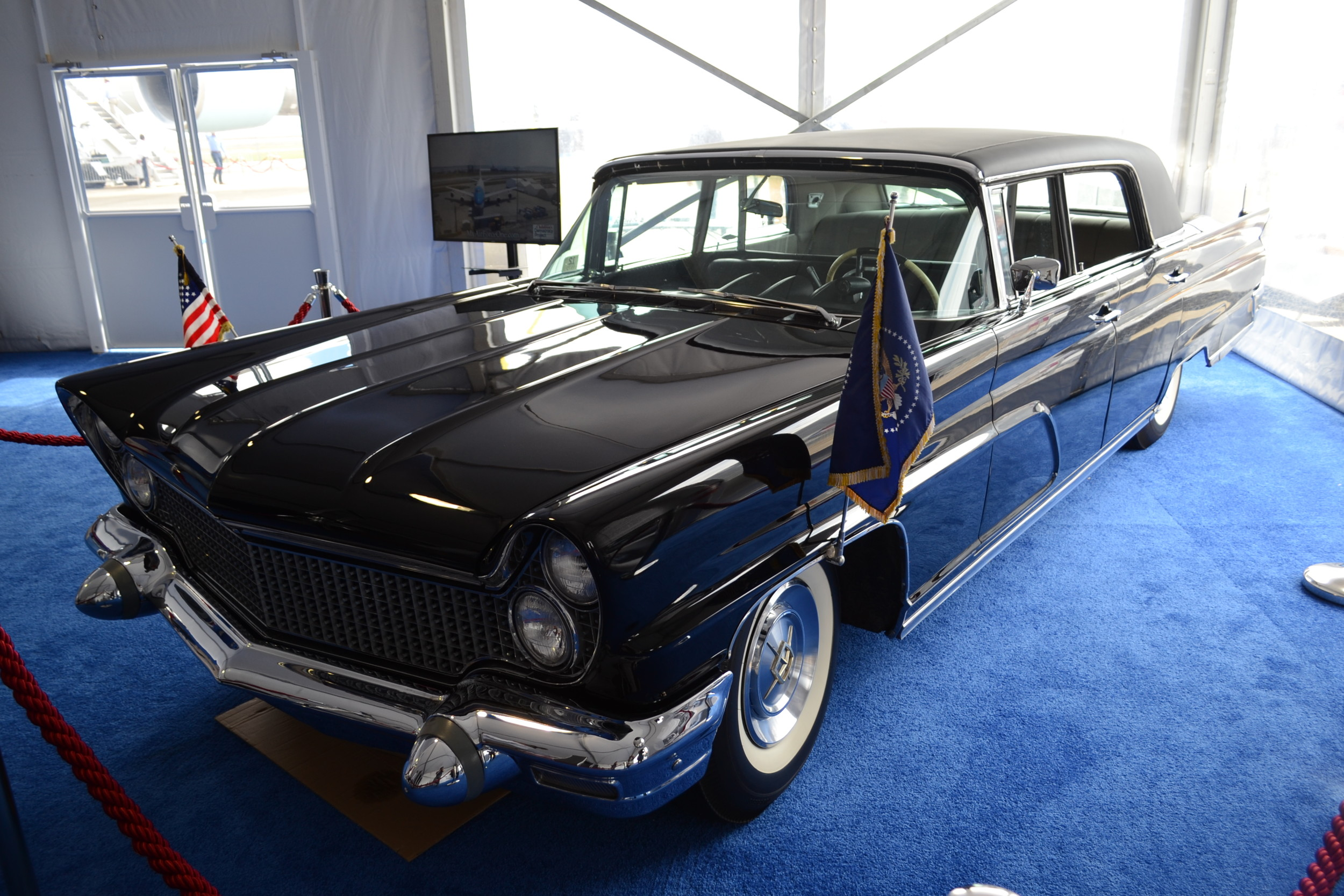 This 1960 Lincoln Continental Limousine was used in John F. Kennedy's motorcade in Washington D.C.
