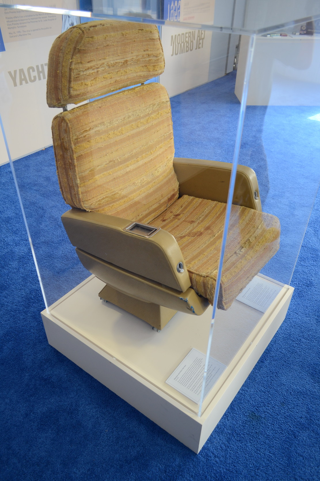 This seat was pulled from JFK's Air Force One plane, which he had personally used.