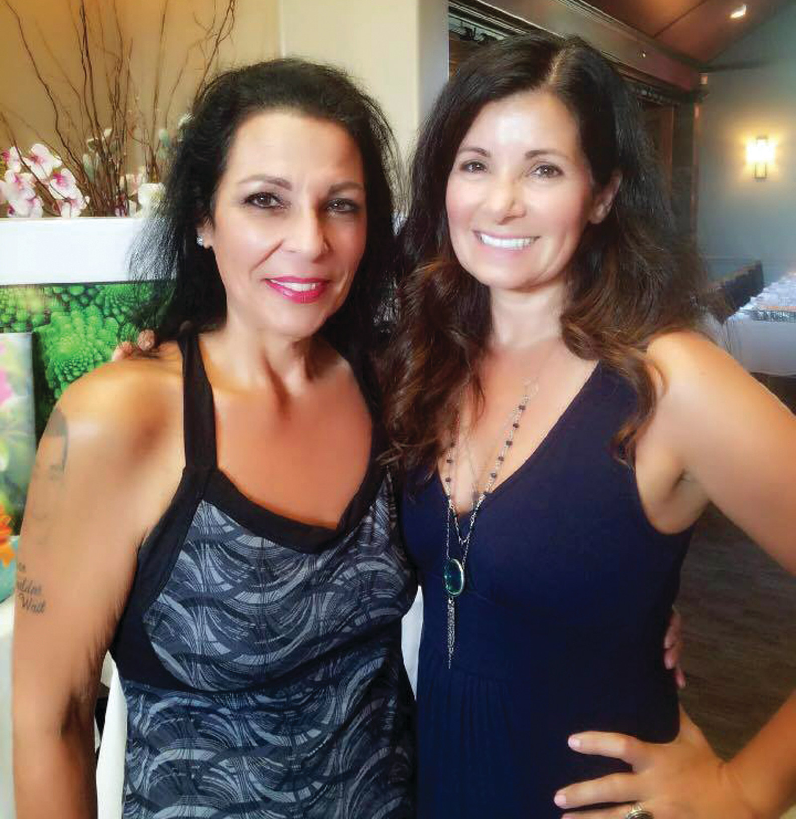 TEAMWORK: Pictured is the Founder and CEO of the Eric Medeiros Memorial Foundation Anna Casador along with Owner of Spain Restaurant Terri Rodriguez.
