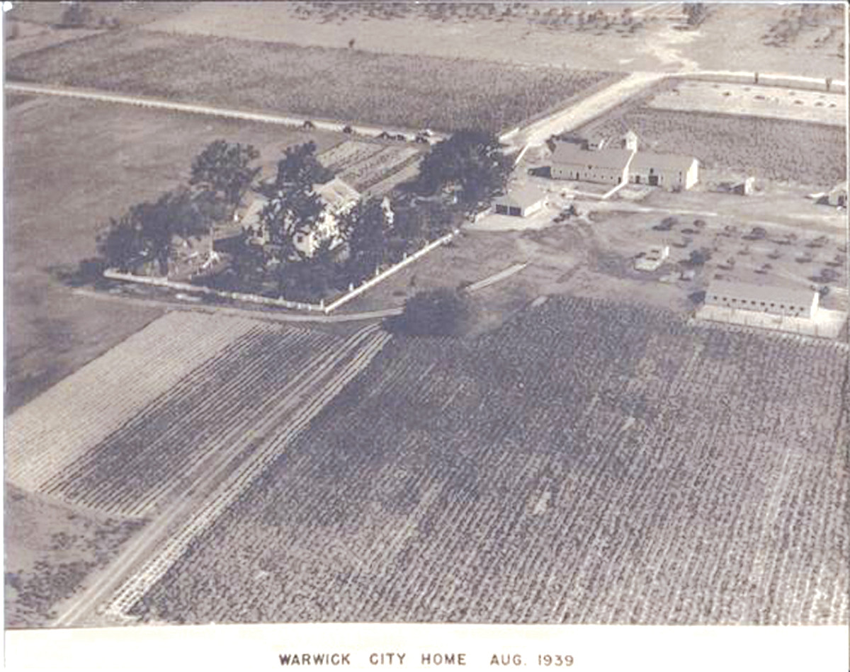 The old Warwick Poor Farm as it appeared shortly before being closed.