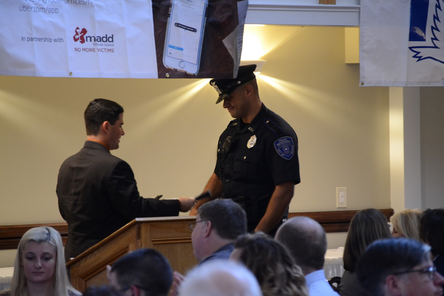 NEW COP ON THE BLOCK: Warwick Police officer Ali Jaafar was awarded the MADD Rookie of the Year award for his dedicated efforts in the first year of his law enforcement career.