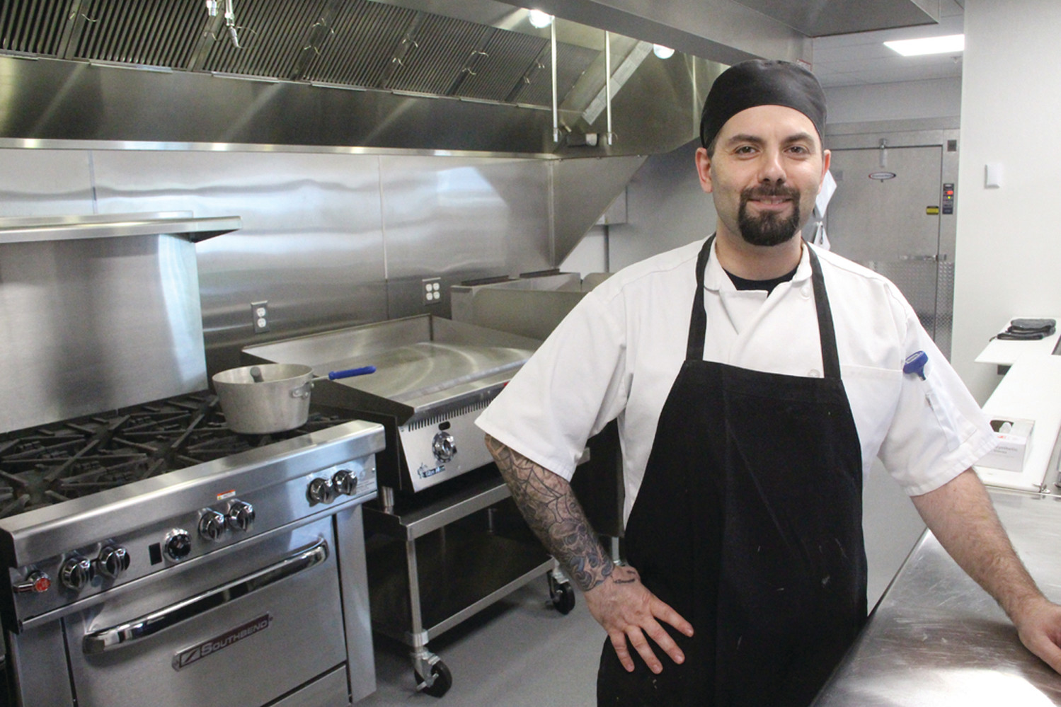 HIS DOMAIN: Nick Tolias oversees kitchen operations at Brentwood.