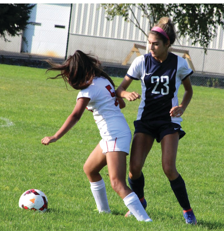 RECORD SETTER: Bianca Robbins is now Johnston High School's all-time leader in goals for girls' soccer.