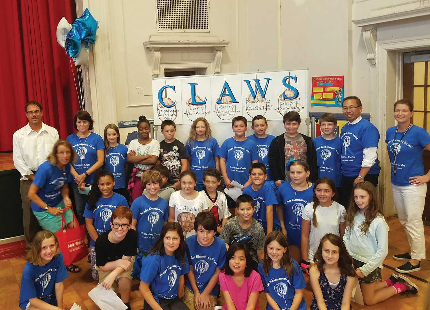 WE HAVE 'CLAWS': A new motto was unveiled to go along with the new mascot, an acronym with each letter of the motto signifying something important, such as loyalty and work ethic.