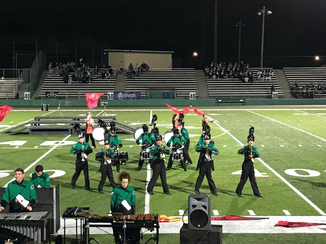 WE GOT RYTHYM: All that practicing pays off for the Cranston East Thunderbolt band.