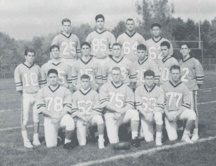 SUPER SQUAD: These are members of Johnston High School's 1991 state championship football team that finished the season undefeated and as Super Bowl champs. The former Panthers will be honored during the Oct. 22 JHS Athletic Hall of Fame induction and dinner. The group includes, front row: B. Marrafino, F. Leone, B. Giardina, M. Jordan and H. Storm. Middle row: E. Jordan, D. Dannella, B. Iafrate, D. Caito, B. Gaunt and K. Derosa. Top: S. Harrison, J. Gonzalez, A. Macchio and S. Phouthakoun.