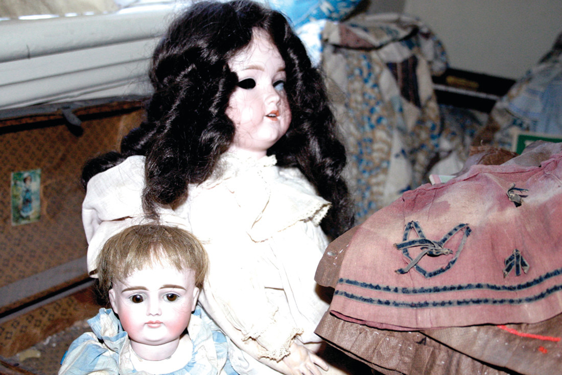 IN THE EYES: Another encounter that was witnessed by both Kennedy and Bell at the Sprague Mansion, as they each captured photos, of a doll's eyes move on camera; the problem is, the eyes are painted on! The Doll Room is no longer in place at the mansion.