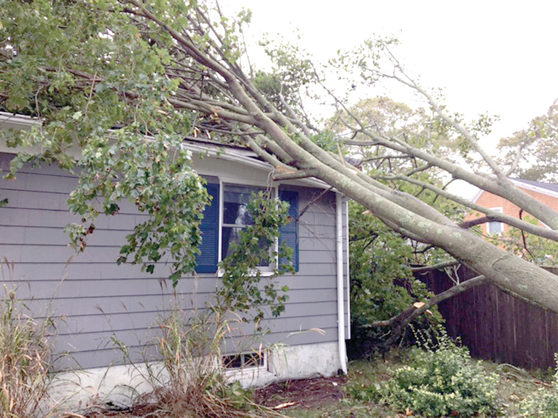 CLOSE CALL: This house on Potters Avenue in the Greenwood neighborhood suffered a close call when a tree landed on the section of roof that sheltered their two-year-old child. Thankfully nobody was hurt.
