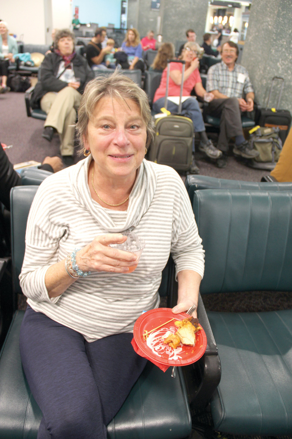 CHECKING OUT ISLAND LIFE: Warwick resident and travel agent Susan Porth was on the first flight from Green to Guadeloupe.