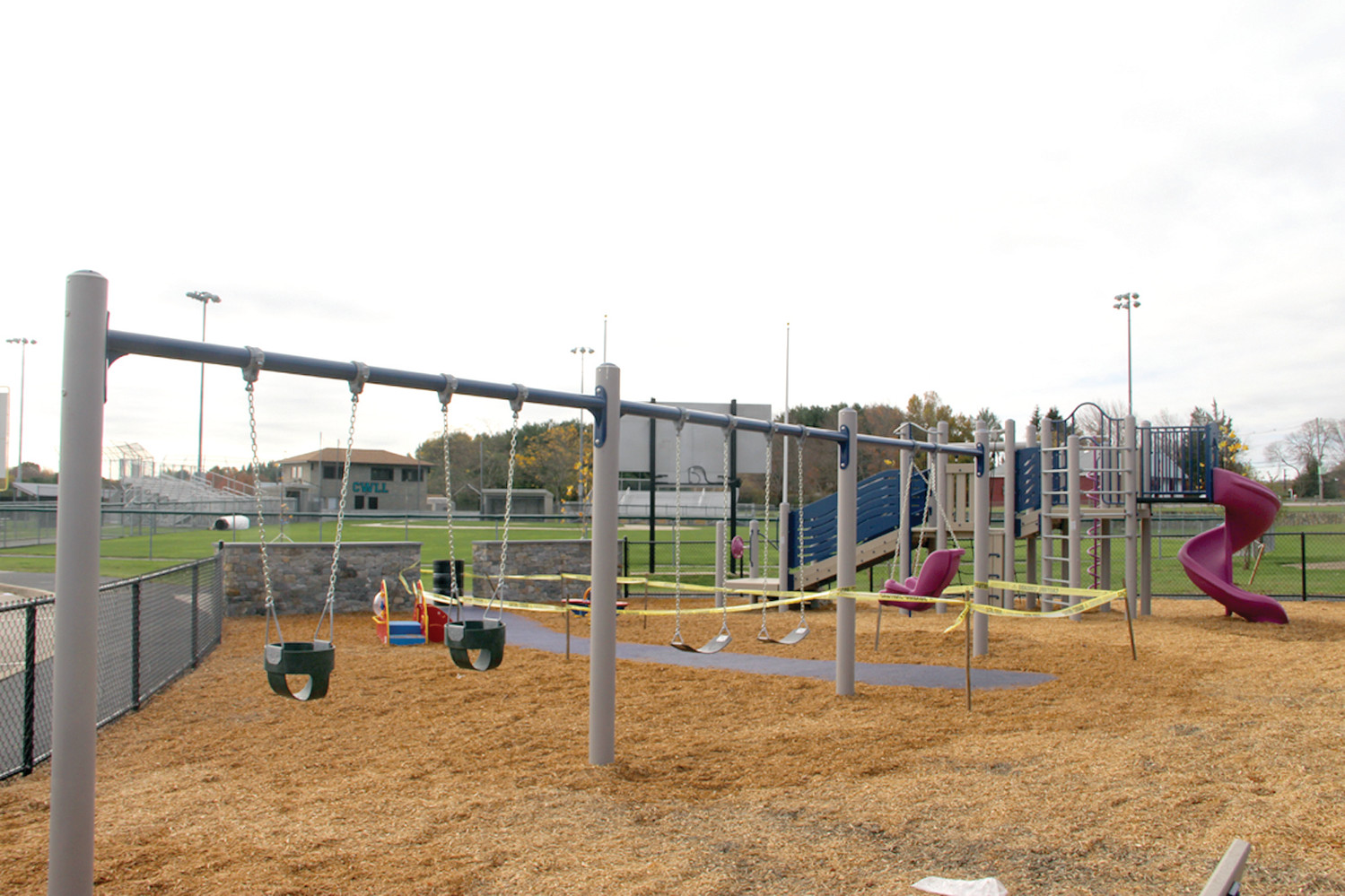 COMPLETING THE COMPLEX: The playground is the first one at the CLCF John Chafee Complex in Cranston, which already has baseball fields and tennis courts, and will provide younger kids with a place to have fun.