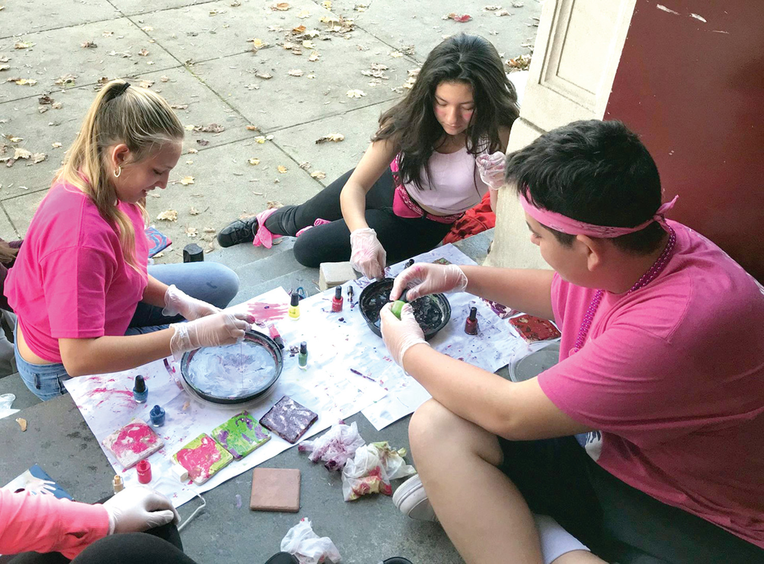 WORKING TOGETHER: The students at Hugh B. Bain Middle School have been working diligently on crafts and items which can be sold at the upcoming Winter Carnivale on December 1.