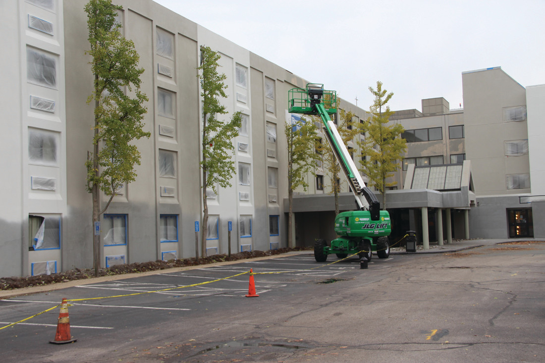 A NEW LOOK: Formerly the Comfort Inn, the Procaccianti Companies is transforming the hotel to become a Fairfield Inn by Marriott. The hotel will have a direct pedestrian connection to the airport terminal through the adjoining parking garage.