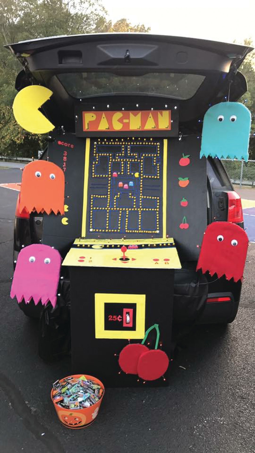 TRUNK OR TREAT: Pac Man was among the most popular themed vehicles during the recent Winsor Hill School Harvest Night.