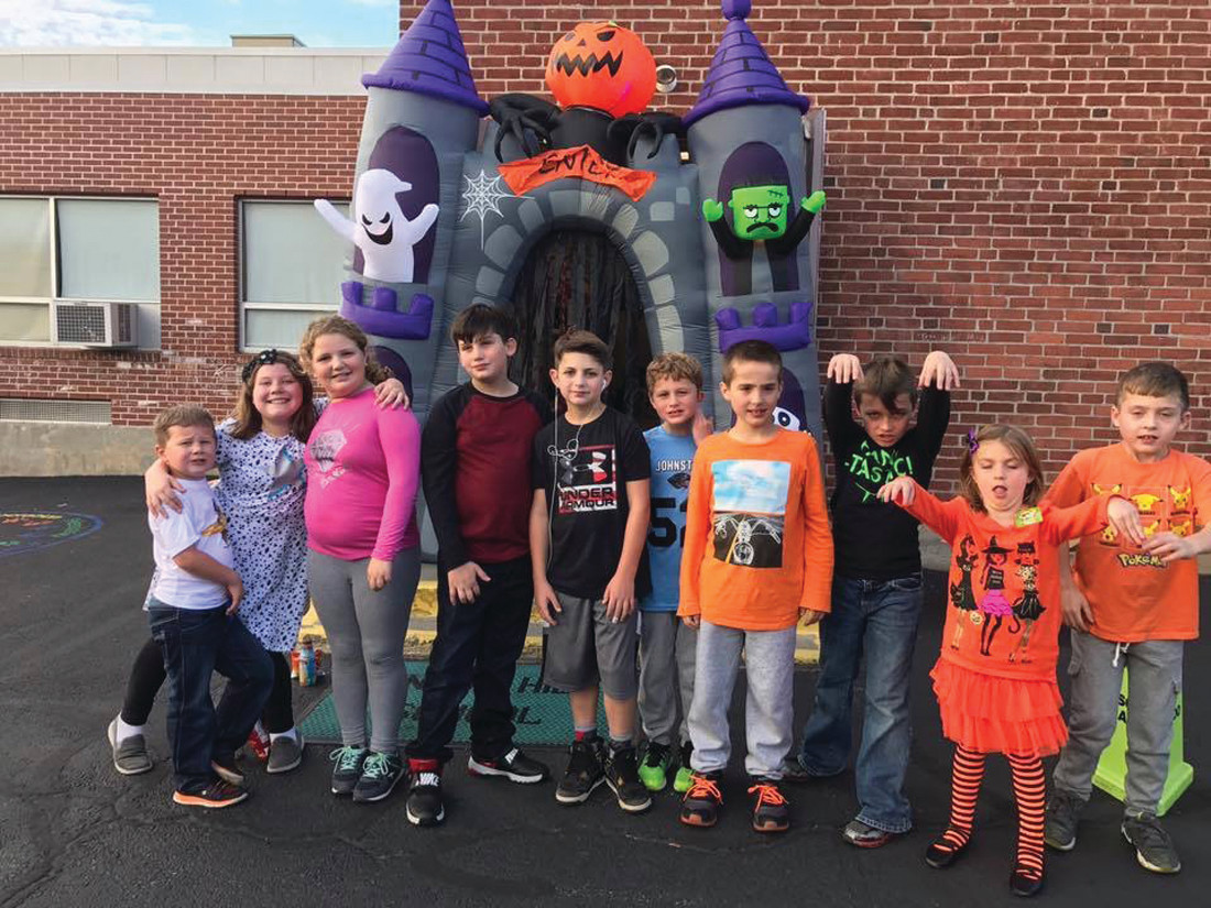 SUPER STUDENTS: These are just a few of the Winsor Hill Schools students who enjoyed the recent and fun-filled Winsor Hill School Harvest night that included everything from an inflatable slide to face painting and of course snacks.
